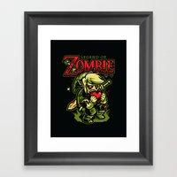 Legend of Zombie Framed Art Print