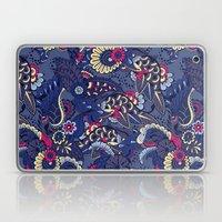 Purple Boho Floral Pattern Laptop & iPad Skin