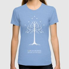 Lord Of The Rings ROTK Womens Fitted Tee Tri-Blue SMALL