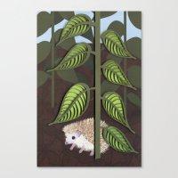 Hedgehog - Paper Art Pri… Canvas Print