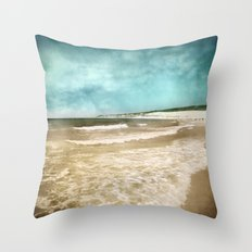 Tarifa beach at summer Throw Pillow