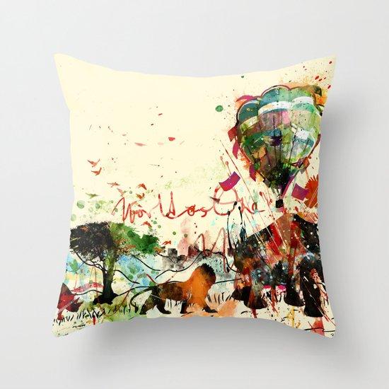 World as One : Human Kind Throw Pillow