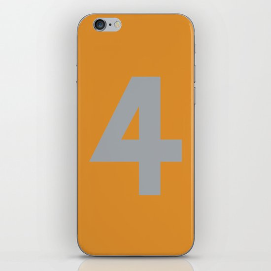 Number 4 iPhone & iPod Skin
