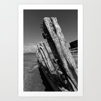 Abandoned ship Art Print