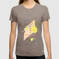 Webster Womens Fitted Tee Tri-Coffee SMALL