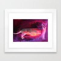 PINK KITTY Framed Art Print