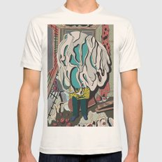 Old Fabric, Skin Mens Fitted Tee Natural SMALL