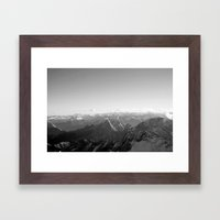Mountain Alps Black and White Photography Europe Framed Art Print