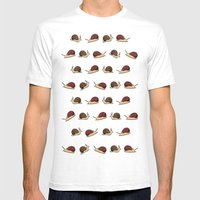 Cute Snail Cartoon Patte… Mens Fitted Tee White SMALL