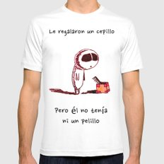 Cepillo White Mens Fitted Tee SMALL