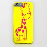 Pink Cute Giraffe iPhone 6 Slim Case
