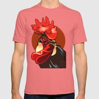 Andalusian Rooster 2 Mens Fitted Tee Pomegranate SMALL