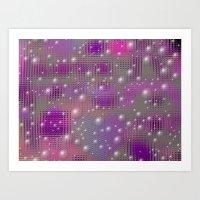 Disco Made Of Purple Bub… Art Print