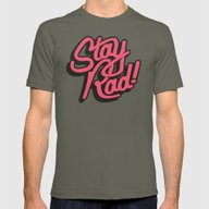 Stay Rad Mens Fitted Tee Lieutenant SMALL