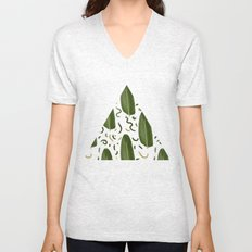 Marching leaves Unisex V-Neck