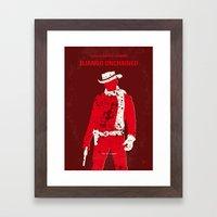 No184 My Django Unchained minimal movie poster Framed Art Print