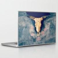 sugar skull Laptop & iPad Skins featuring Sugar & Skull by RDelean