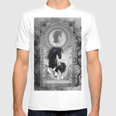 Wonderful horse in black and white  Mens Fitted Tee White SMALL