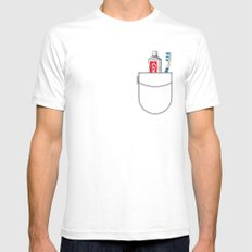 Pockets - Clean Freak - Mens Fitted Tee White SMALL