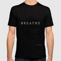 Breathe. A PSA for stressed creatives. Mens Fitted Tee Black SMALL