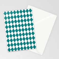 Diamonds (Teal/White) Stationery Cards