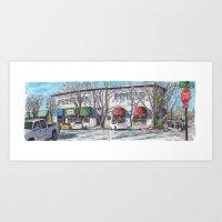 2nd Street, Davis Art Print