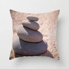 Balancing the world Throw Pillow