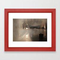 Strolling in the Rain Framed Art Print