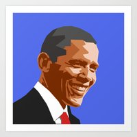 Barack 2 Art Print