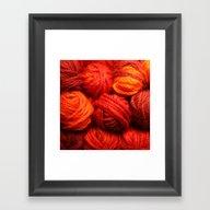 Many Balls Of Wool In Sh… Framed Art Print