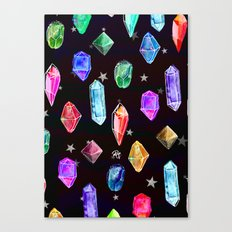 Crystals and Glitter Stars Canvas Print