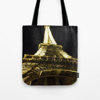 Tour Eiffel By Night Tote Bag