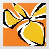 Oh So Pretty - Orange Canvas Print