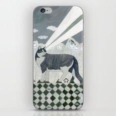 Beaming Cat iPhone & iPod Skin