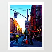 Sun Goes Down  in the City Art Print