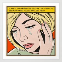 ...I Could Have Just Die… Art Print