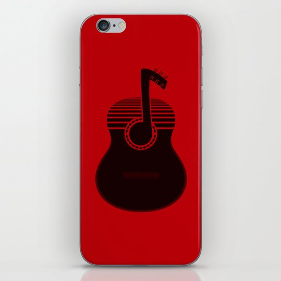 Classical Notes RED iPhone & iPod Skin