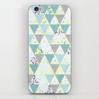 PASTEL NEON GEO FLORALS … iPhone & iPod Skin