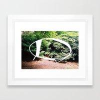 Elipse / Blossom Series Framed Art Print