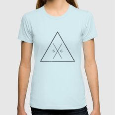 The Society Six  Womens Fitted Tee Light Blue SMALL
