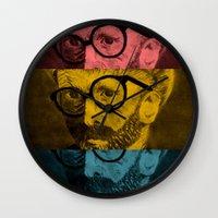 Hipster Van Gogh Wall Clock