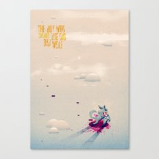 The Boy Who Carried the Big Bad Wolf Poster Canvas Print