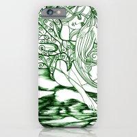 iPhone & iPod Case featuring Secret Path / Original A4 Illustration / Pen & Ink by Zhou