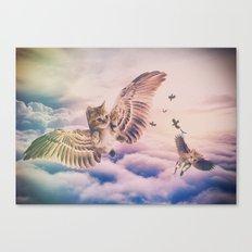 Kitty Flight Canvas Print