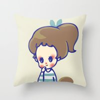 Why Are You Smiling? Throw Pillow