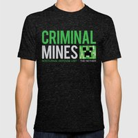 Criminal Mines Mens Fitted Tee Tri-Black SMALL