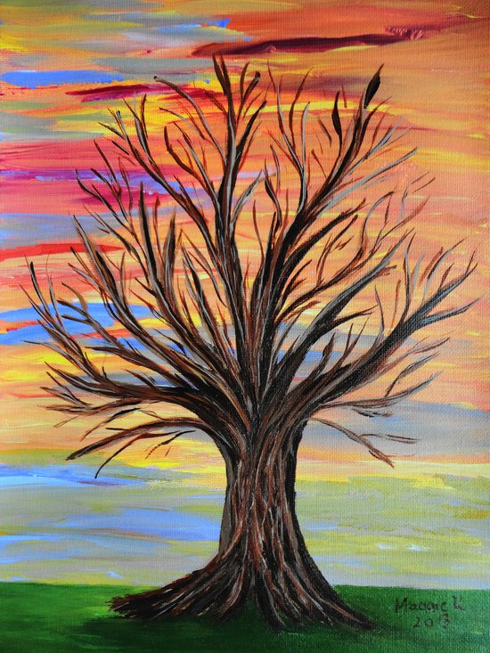 The bare tree Art Print