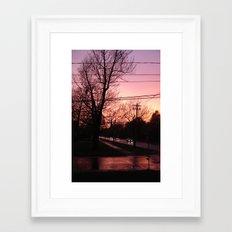 Sunset on Elm St.  Framed Art Print