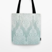 Lace & Shadows - Soft Sa… Tote Bag