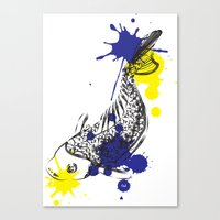 Out Fish Canvas Print
